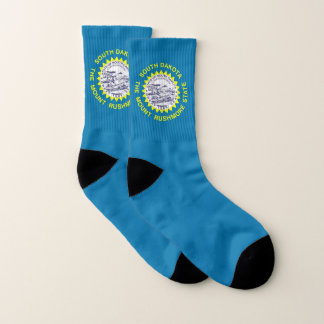 All Over Print Socks with Flag of South Dakota 1