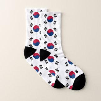 All Over Print Socks with Flag of South Korea 1