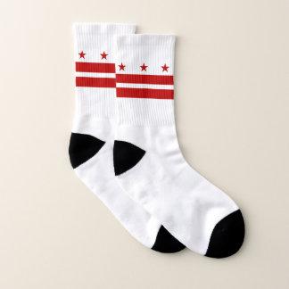 All Over Print Socks with Flag of Washington DC 1