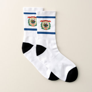 All Over Print Socks with Flag of West Virginia 1
