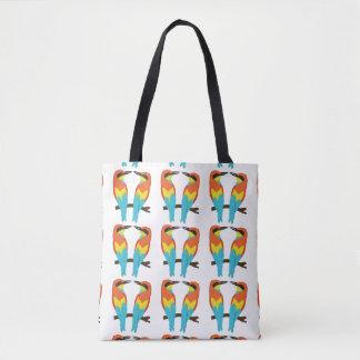 All-Over-Print Tote Bag, Medium LOVE BIRDS
