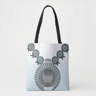 All-Over-Print Tote Bag, Medium SQUASH BLOSSOM
