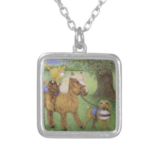 All Part of the Fun Silver Plated Necklace