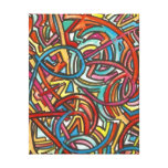 All Paths End There-Modern Acrylic Paint And Ink Stretched Canvas Print