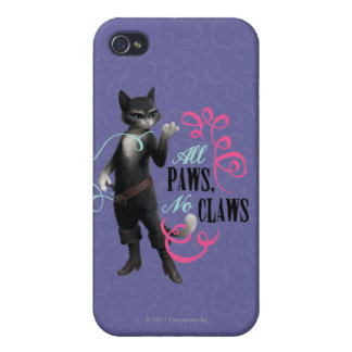 All Paws No Claws (color) iPhone 4/4S Covers