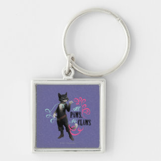 All Paws No Claws (color) Key Ring