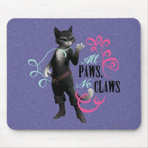All Paws No Claws (color) Mouse Pad