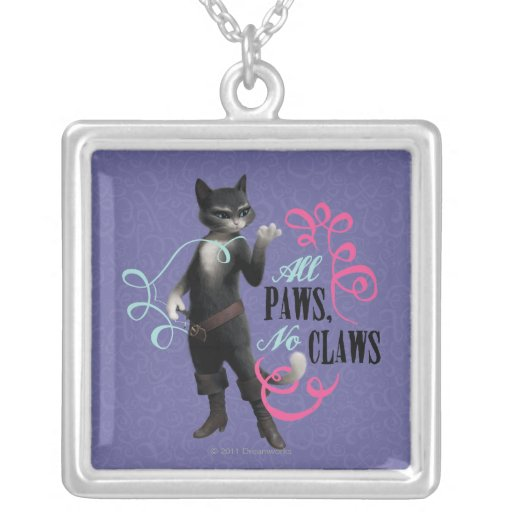 All Paws No Claws (color) Personalized Necklace