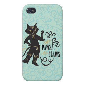 All Paws No Claws iPhone 4 Case