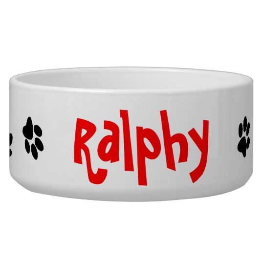"""""""All Paws"""" Personalised Dog Bowl"""