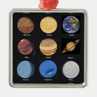All Planets Science Photos With Names Christmas Ornament