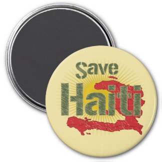 ALL Proceeds go to RED CROSS - Save Haiti 7.5 Cm Round Magnet