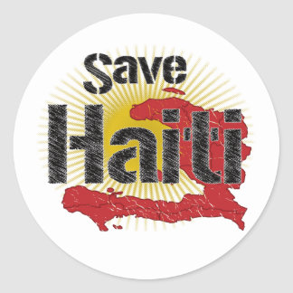 ALL Proceeds go to RED CROSS - Save Haiti Classic Round Sticker