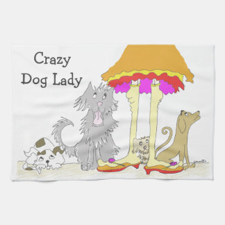 All Proceeds to Animal Charity Crazy Dog Lady Tea Towel