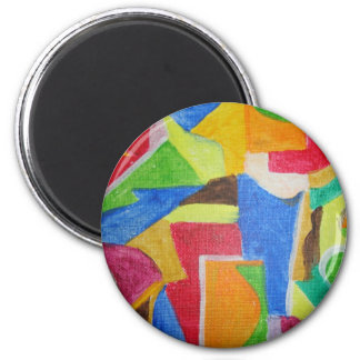 all products sporting vibrant geometric designs 6 cm round magnet