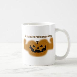 All Pumped Up For Halloween Basic White Mug