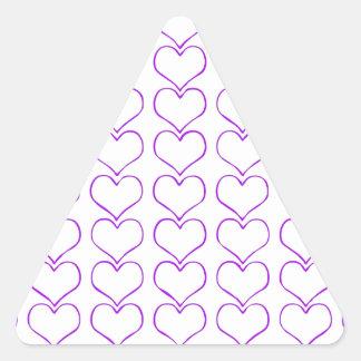 All  purple hearts on white background girly fun sticker