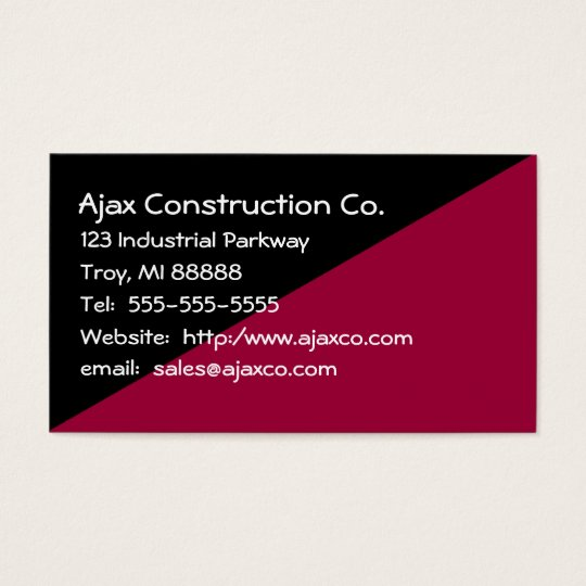 All Purpose 2-Tone Black and Brown Business Card