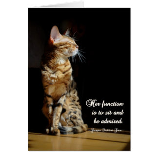 All Purpose Bengal Cat Greeting Card