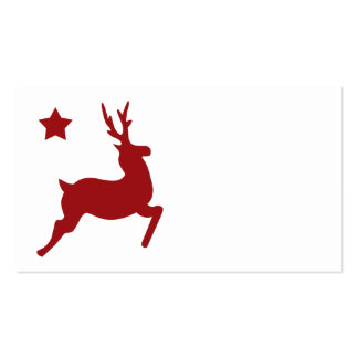 All Red Reindeer Place Card Business Cards