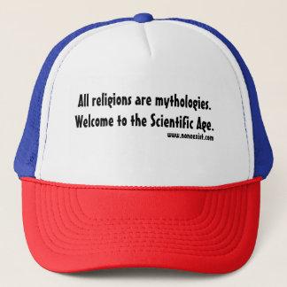 All religions are mythologies. trucker hat