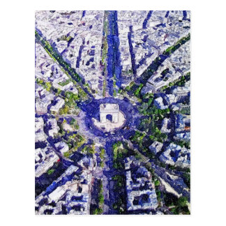 All Roads lead to Paris Postcard