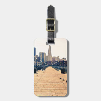All roads lead to pyramid. luggage tag