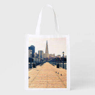 All roads lead to pyramid. reusable grocery bag