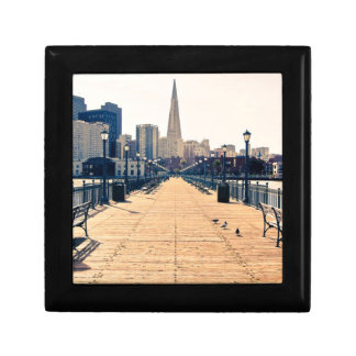 All roads lead to pyramid. small square gift box