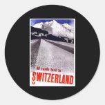 All Roads Lead To Switzerland Classic Round Sticker