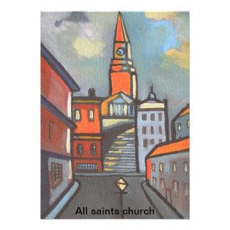 (All saints church Invitation)