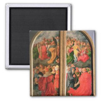 All Saints Day altarpiece Square Magnet