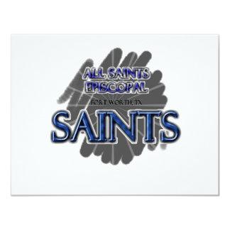 All Saints Episcopal SAINTS - Fort Worth, TX 11 Cm X 14 Cm Invitation Card