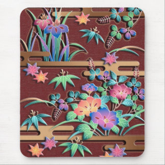 All seasons flowers mouse mat