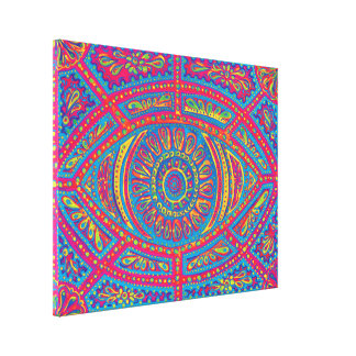 All Seeing Creativity Stretched Canvas Print