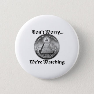 all-seeing-eye 6 cm round badge
