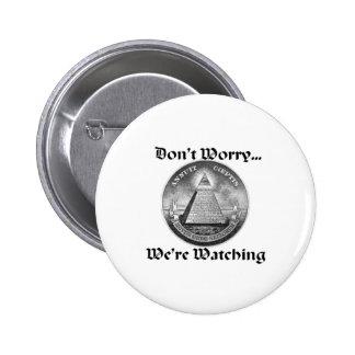 all-seeing-eye 6 cm round badge
