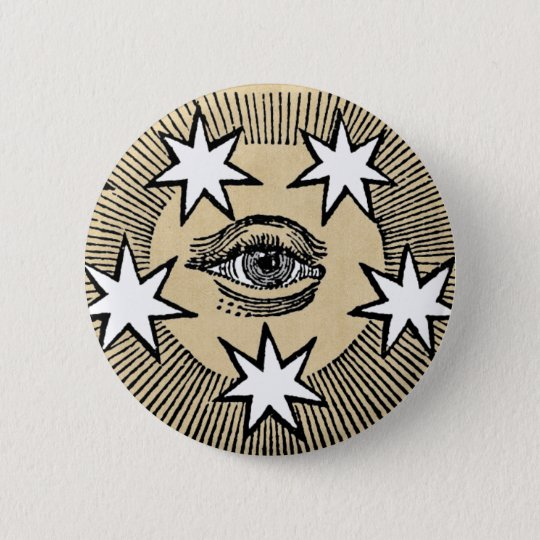 All-Seeing Eye 6 Cm Round Badge
