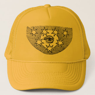 All-Seeing Eye and Stars Trucker Hat