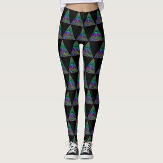 All Seeing Eye Cosmic Leggings Pyramid Yoga Pants
