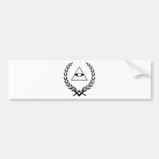 All Seeing Eye crest symbolism F&AM Bumper Sticker