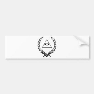 All Seeing Eye crest symbolism F&AM Bumper Stickers