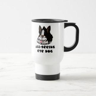 All-Seeing Eye Dog Travel Mug