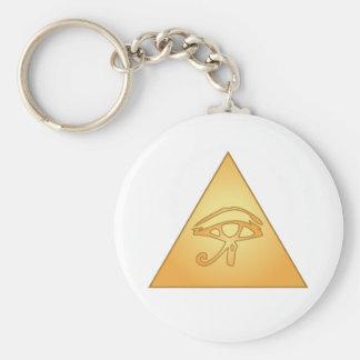 All Seeing Eye / Eye of Horus: Basic Round Button Key Ring
