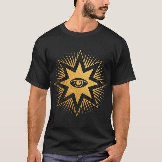 All Seeing Eye Gold Freemasonry Symbol T-Shirt