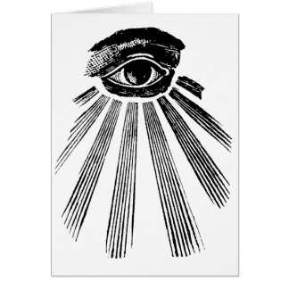 All Seeing Eye NWO Illuminati New World Order Greeting Card