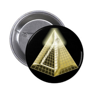All Seeing Eye Pyramid Button