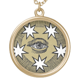 All-Seeing Eye Round Pendant Necklace