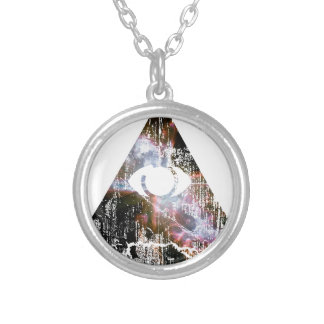 All Seeing Eye Round Pendant Necklace