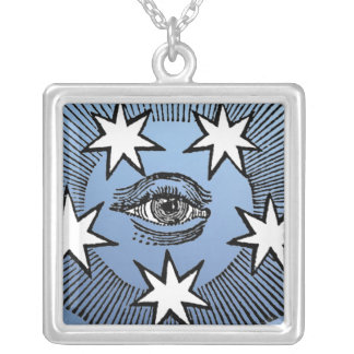 All-Seeing Eye Square Pendant Necklace